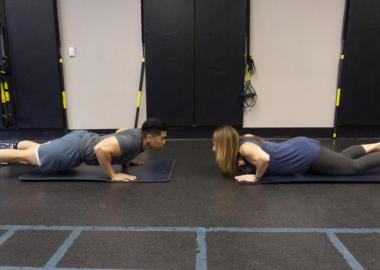 El Camino YMCA personal trainers, Andrea Nudelman and Chris Cabebe