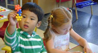 two preschool children